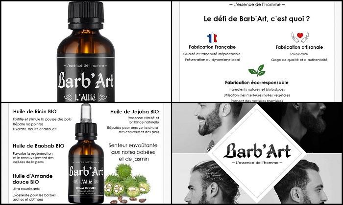 Huile à barbe au ricin bio BARB'ART