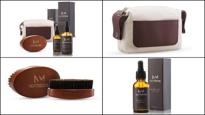 Kit coffret d'entretien de la barbe NEAT & MANLY