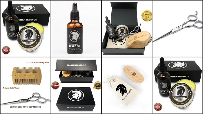 Kit de soins et d'entretien de la barbe SPARTAN BEARD CO