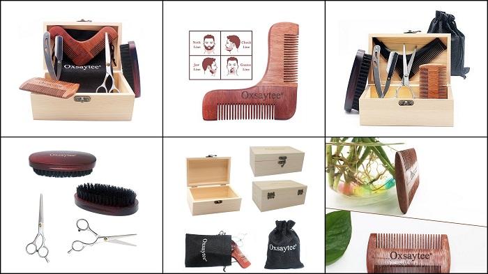 Kit d'entretien et de soin pour barbe et moustache OXSAYTEE