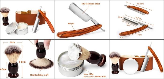 Kit professionnel rasoir coupe-choux pour barbe LUWANZ