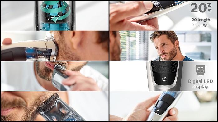 Tondeuse à barbe avec système d'aspiration des poils PHILIPS BT7220