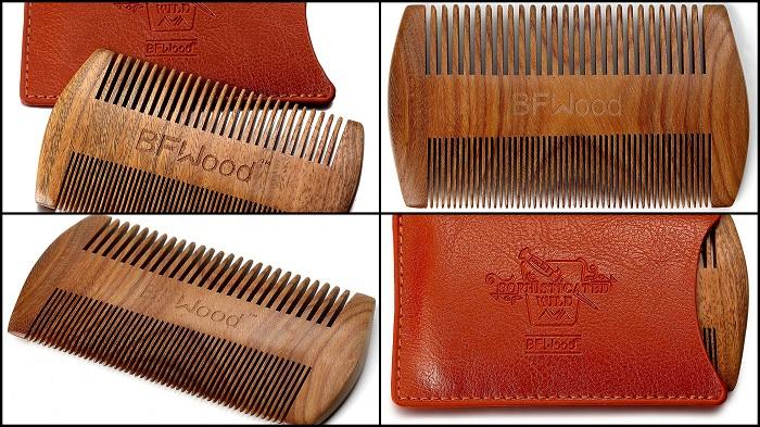 Peigne à barbe en bois de santal BFWOOD