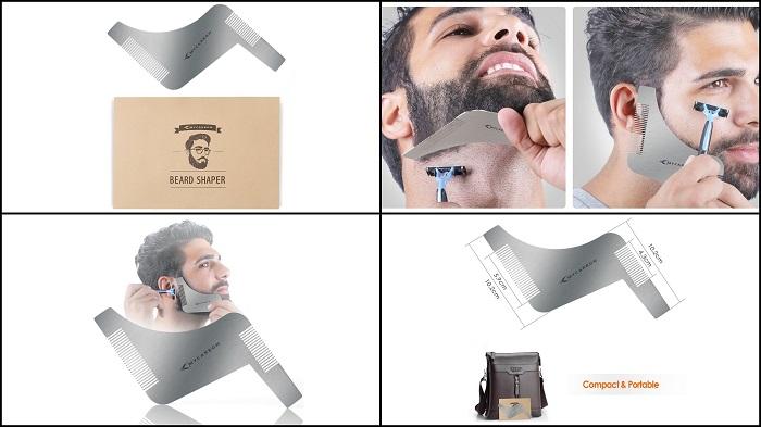 Pochoir guide de contour barbe MYCARBON