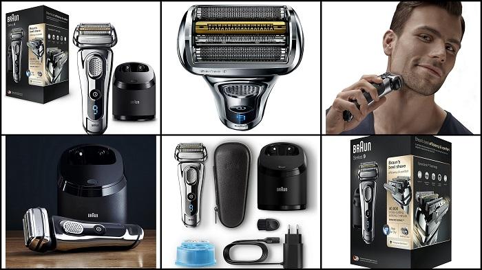 Rasoir électrique barbe Wet & Dry Chrome BRAUN 9296cc