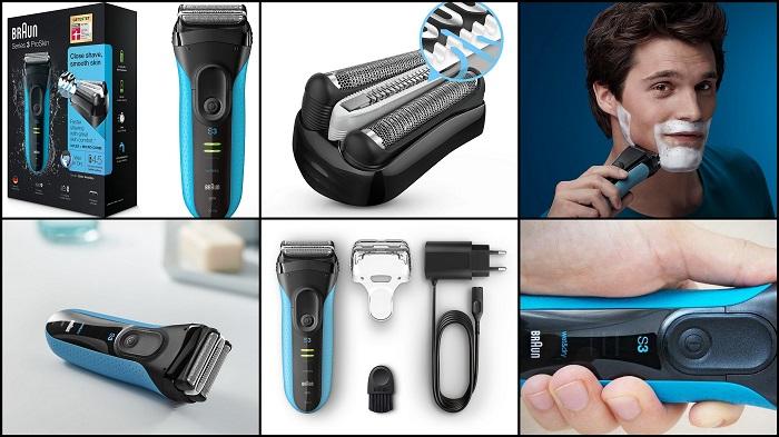Rasoir électrique à barbe ProSkin Bleu BRAUN 3040s
