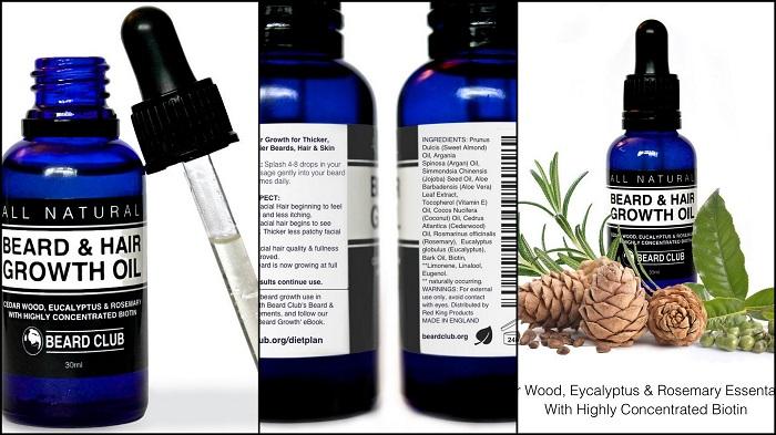 Sérum de pousse de barbe avec Biotine hautement concentrée BEARD CLUB