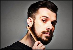 Les peignes en plastique sont bons pour les hommes avec des barbes courtes car les dents sont généralement plus fines.