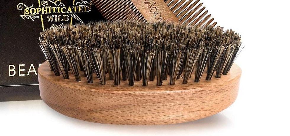 Brosse à barbe en poils de sanglier BFWood
