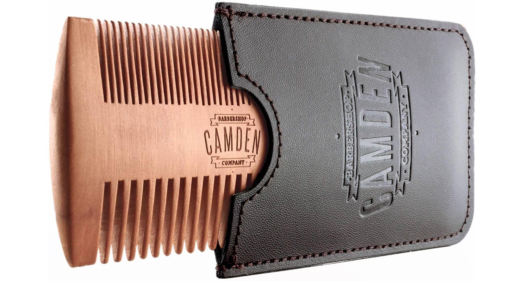 Peigne à barbe en bois de poirier Camden