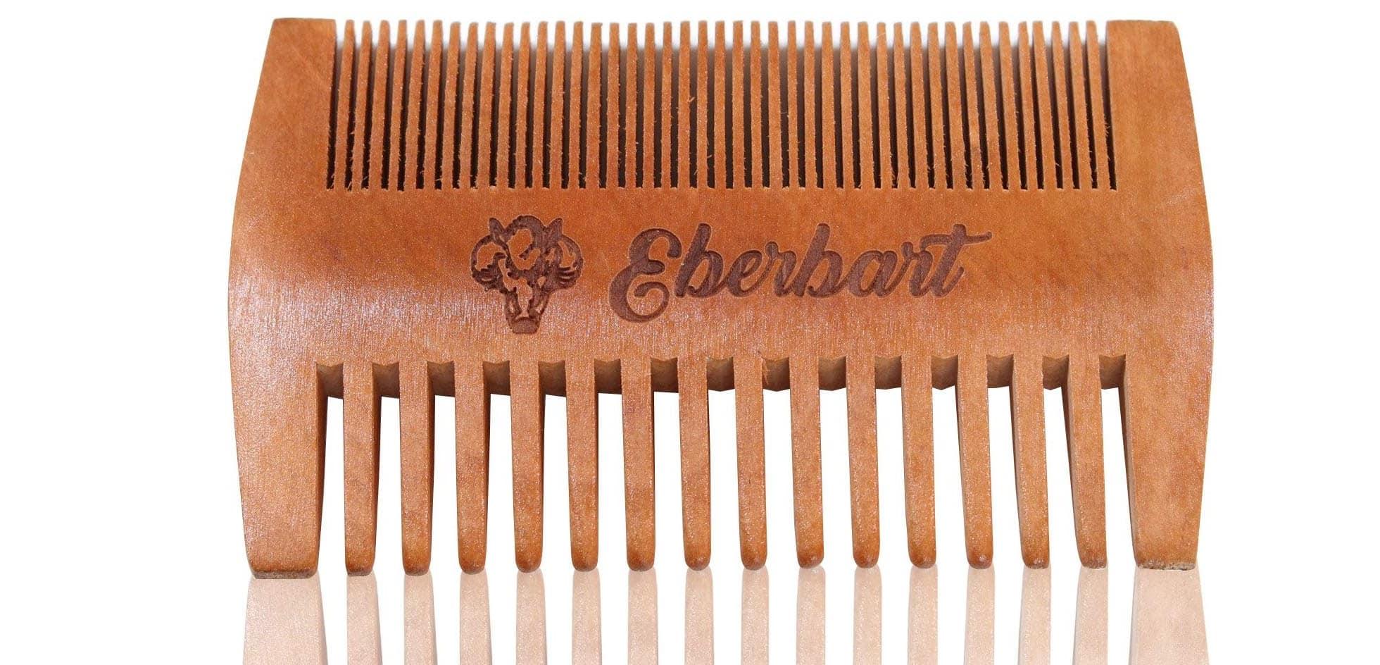 Peigne à barbe en bois de poirier Eberbart