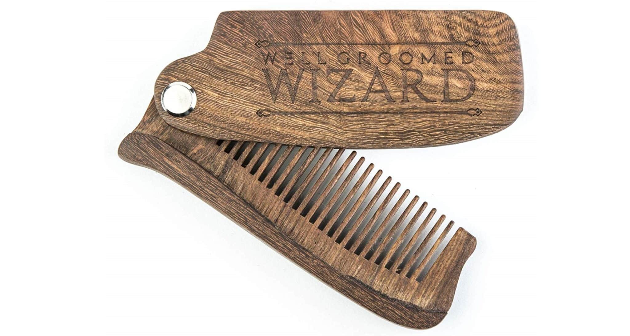Peigne en bois de santal Well Groomed Wizard
