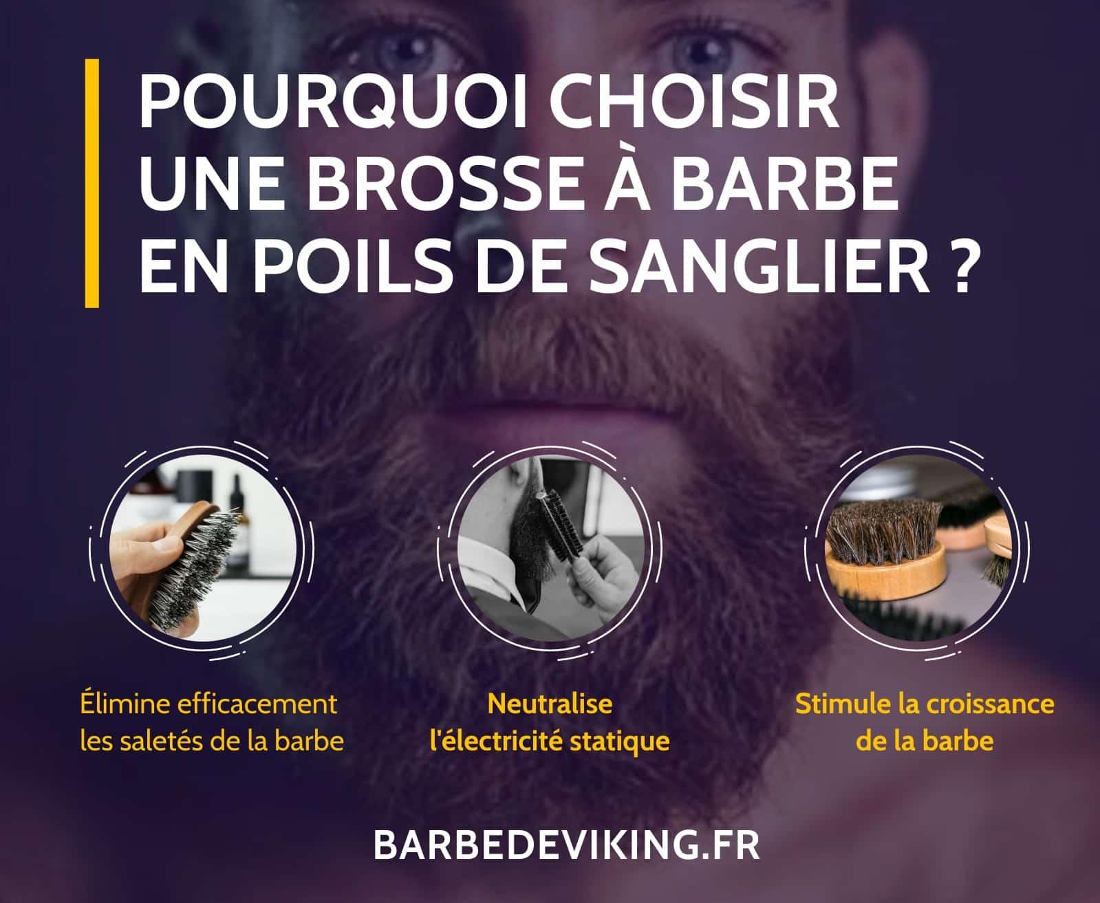 Pourquoi choisir une brosse à barbe en poils de sanglier ?