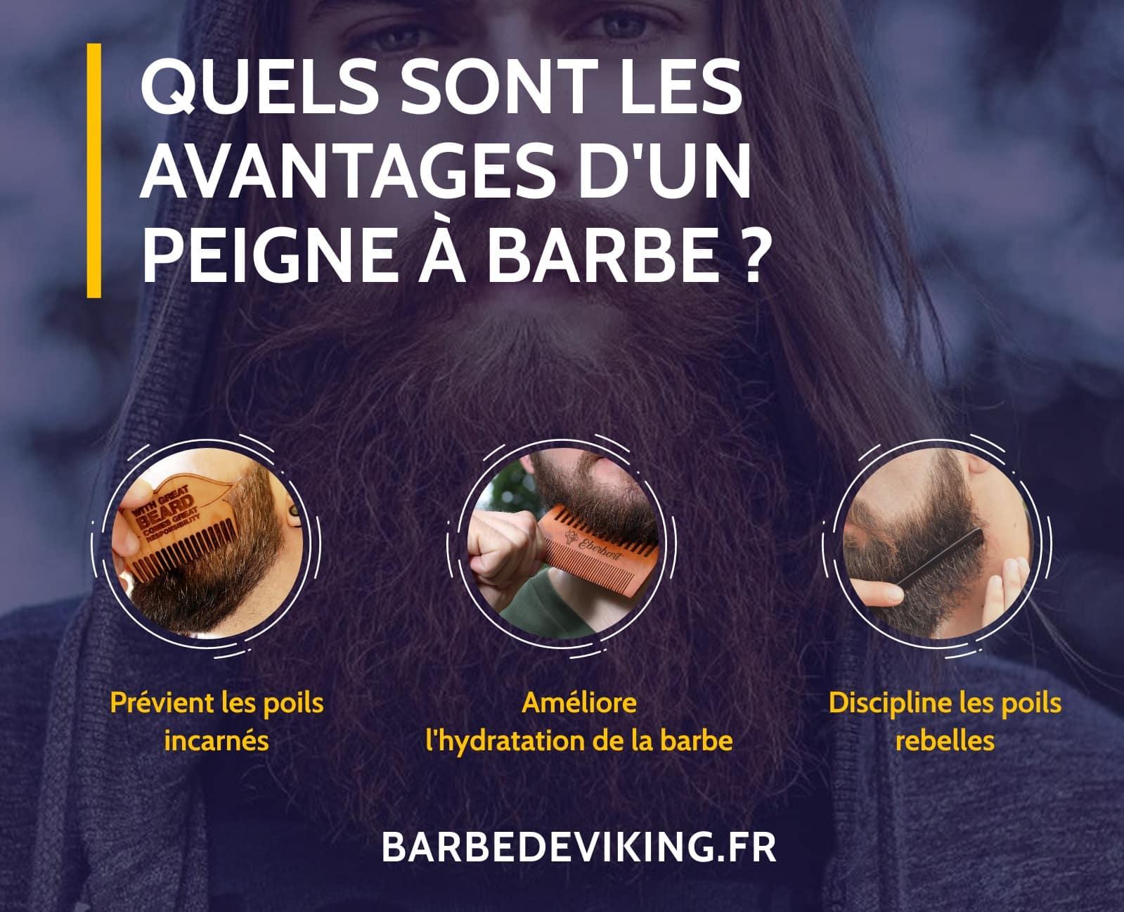 Pourquoi un peigne à barbe est-il important - infographie